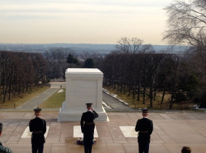 We were there for the changing of the guard. It was a very humbling thing to see.